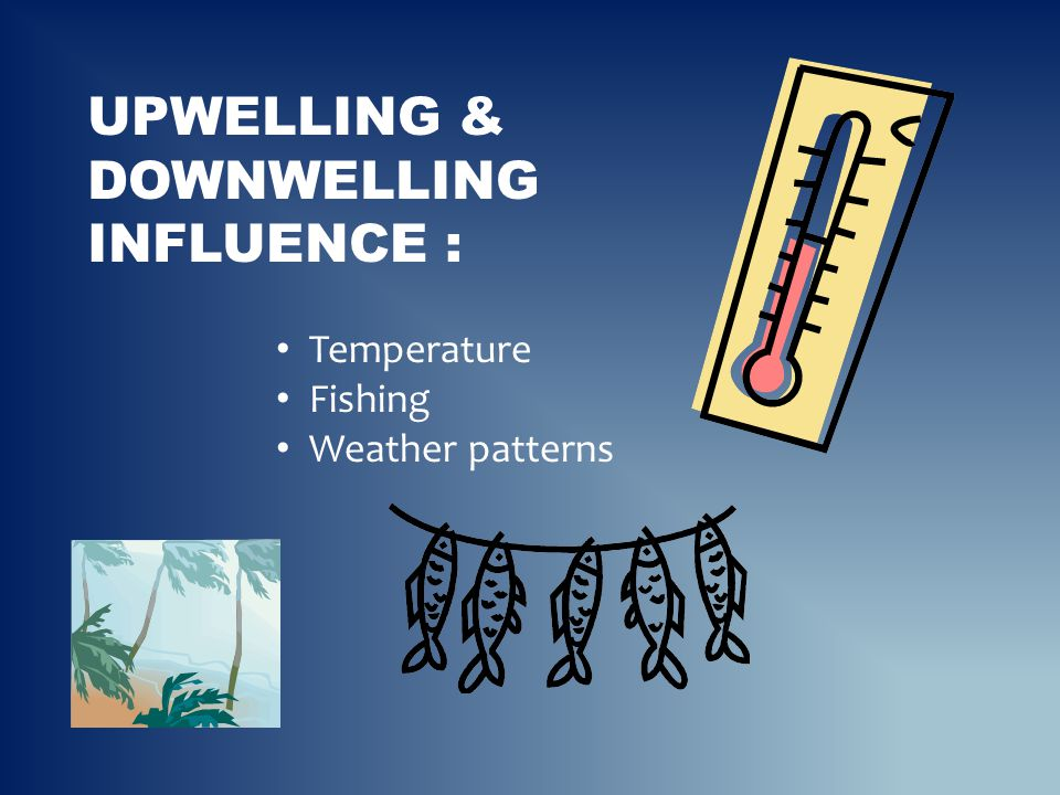 UPWELLING & DOWNWELLING INFLUENCE : Temperature Fishing Weather patterns