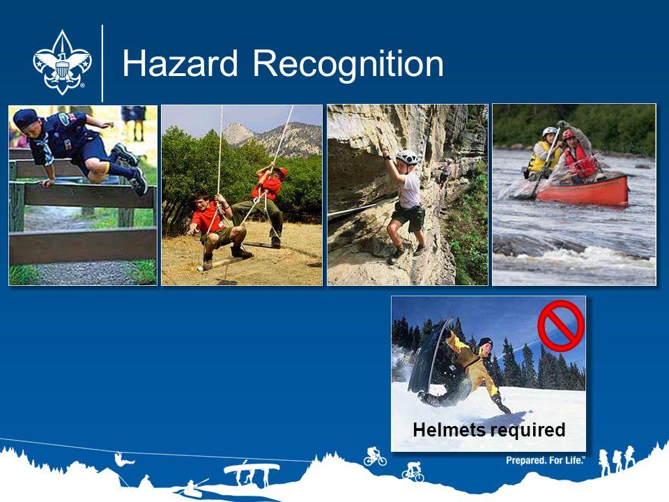 Helmets required Hazard Recognition