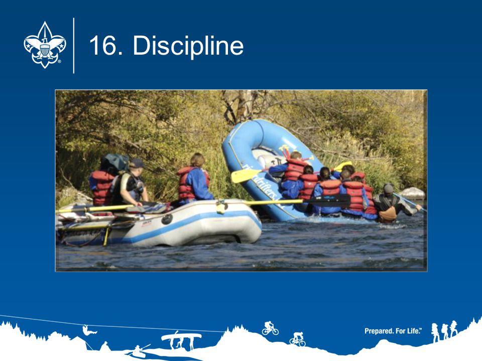 16. Discipline
