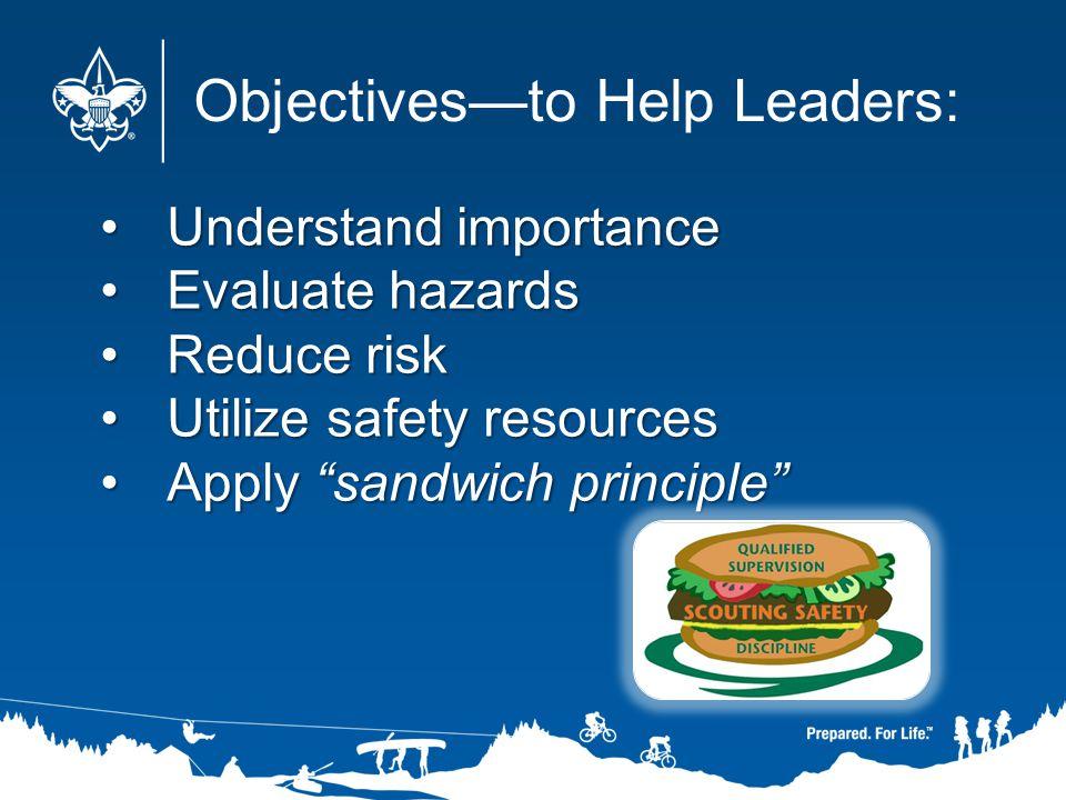 Understand importanceUnderstand importance Evaluate hazardsEvaluate hazards Reduce riskReduce risk Utilize safety resourcesUtilize safety resources Ap