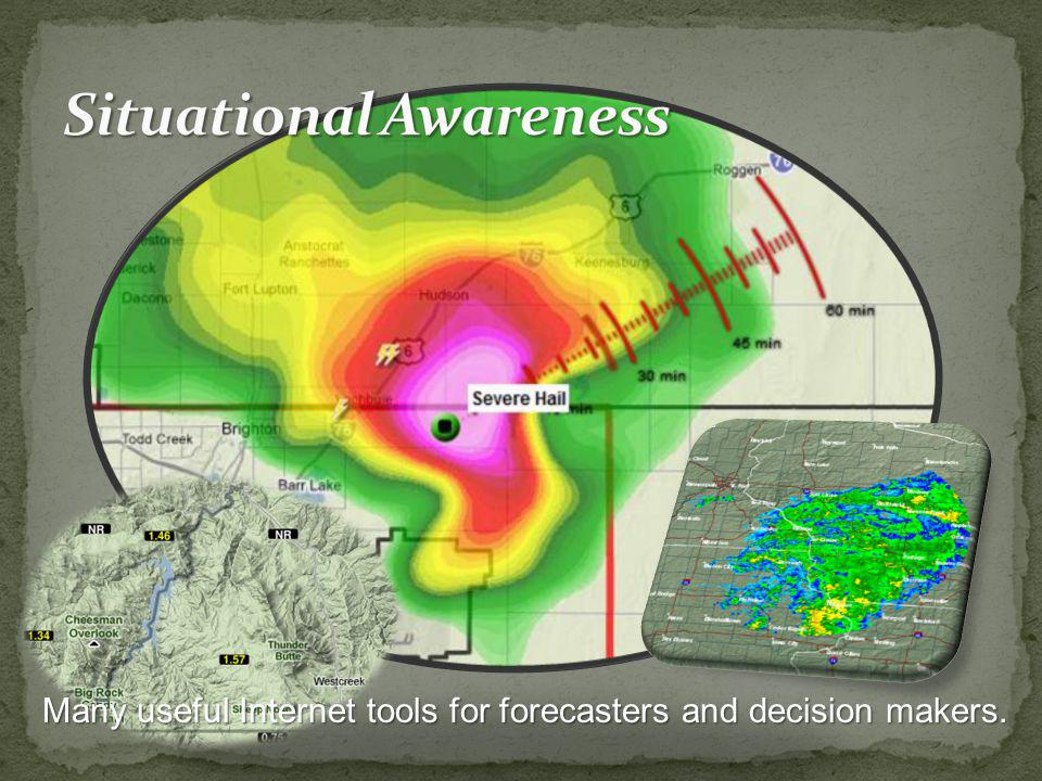 Many useful Internet tools for forecasters and decision makers.