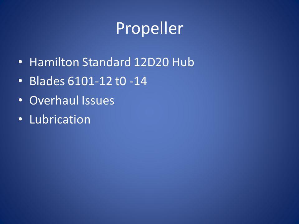 Propeller Hamilton Standard 12D20 Hub Blades 6101-12 t0 -14 Overhaul Issues Lubrication