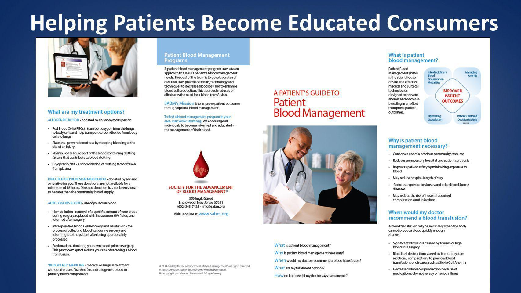 Helping Patients Become Educated Consumers