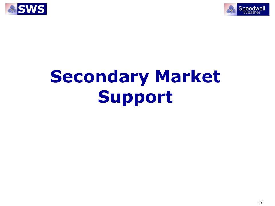15 Secondary Market Support