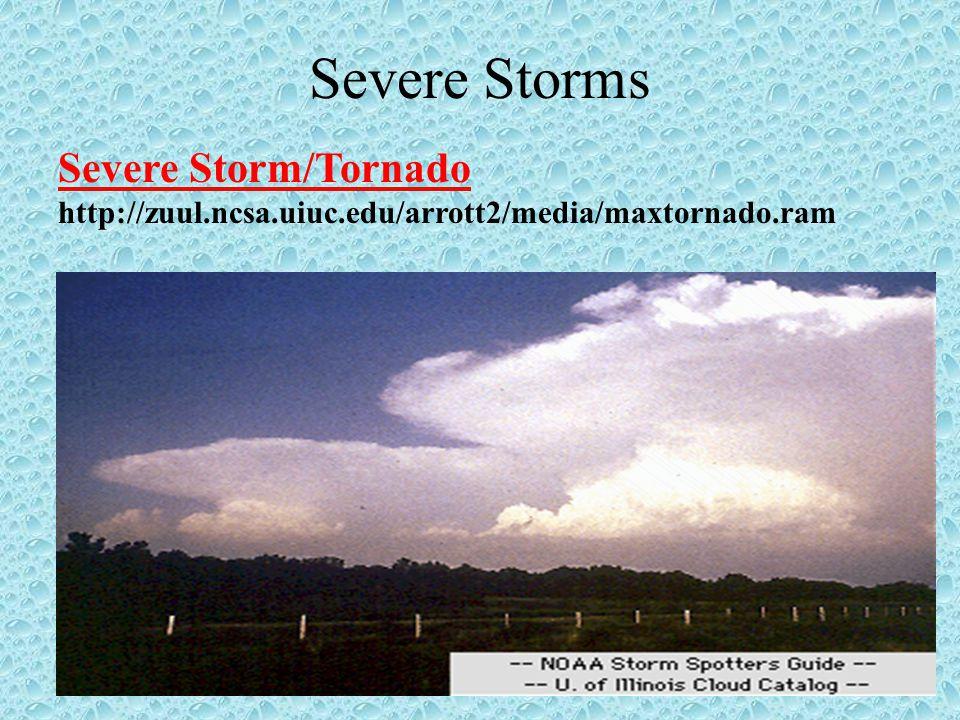 Severe Storms Severe Storm/Tornado http://zuul.ncsa.uiuc.edu/arrott2/media/maxtornado.ram