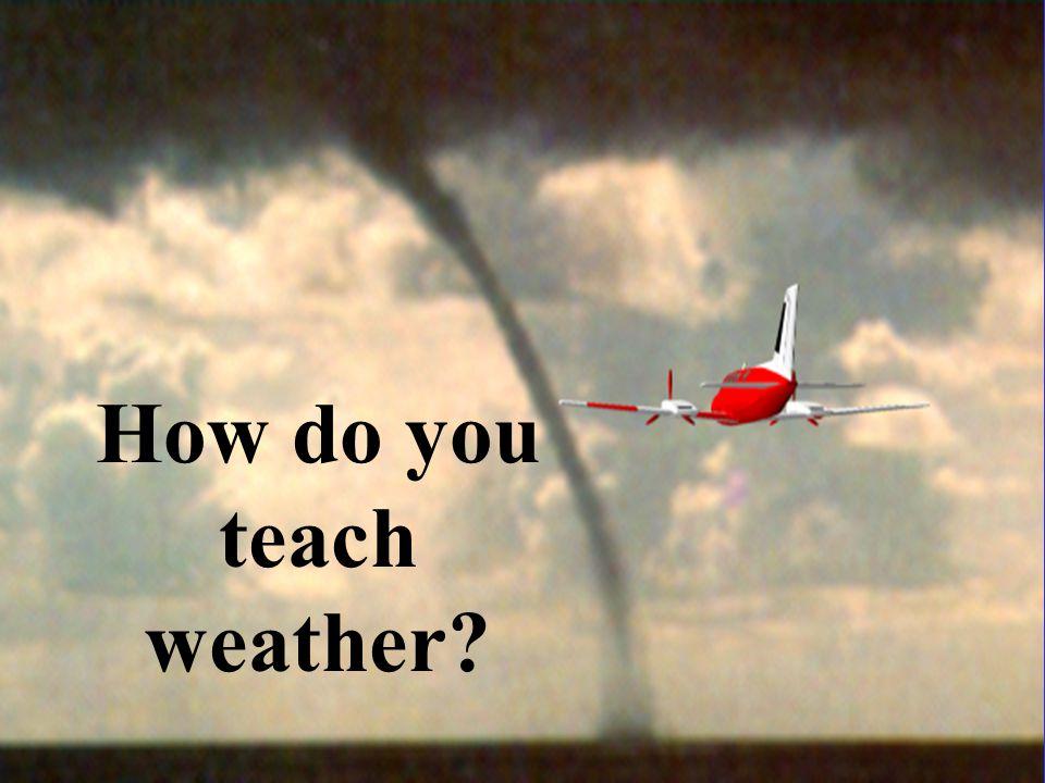 How do you teach weather?