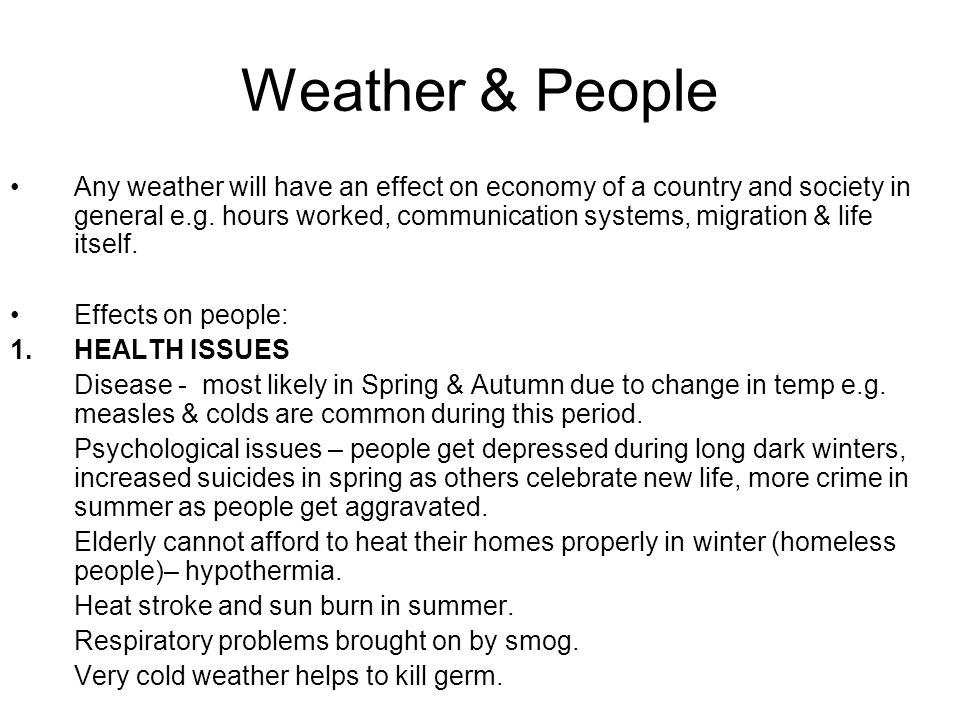 Weather & People 2.
