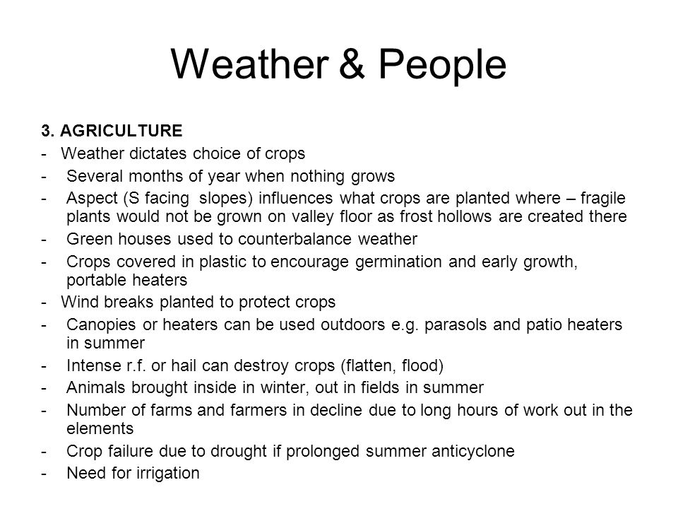 Weather & People 3.