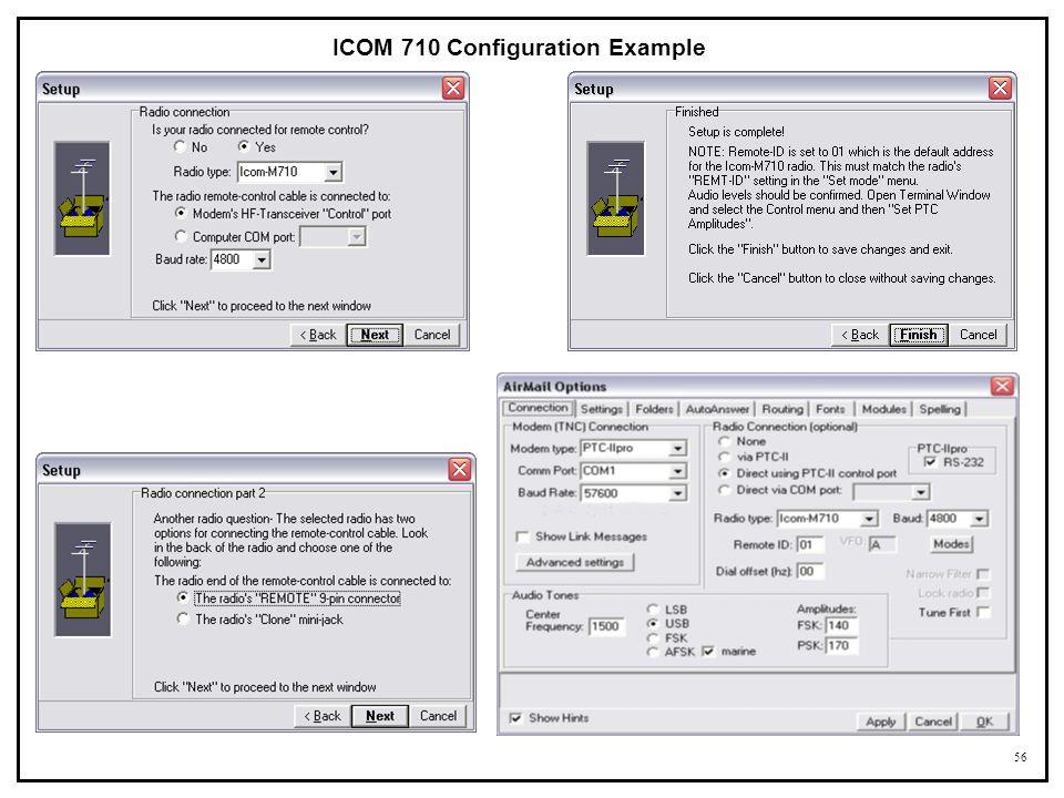 56 ICOM 710 Configuration Example