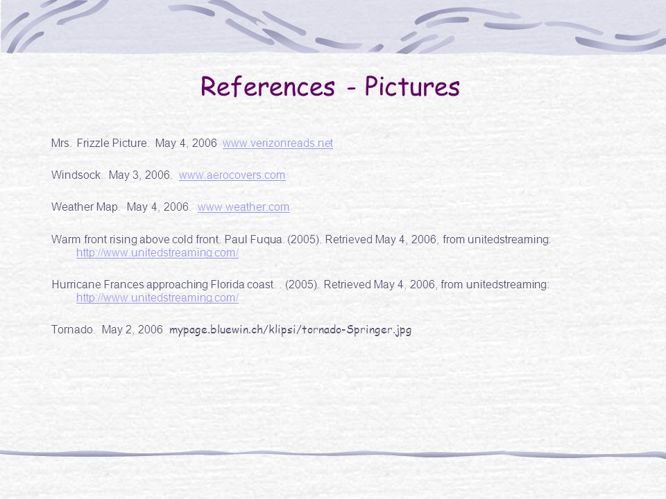 References - Pictures Mrs.Frizzle Picture.