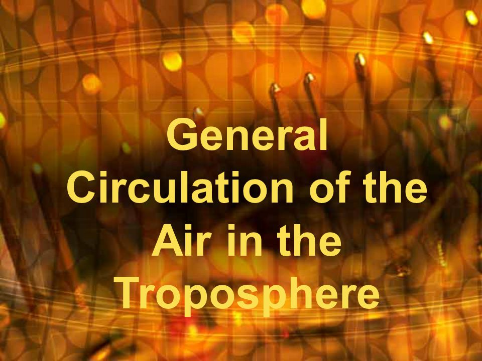 General Circulation of the Air in the Troposphere