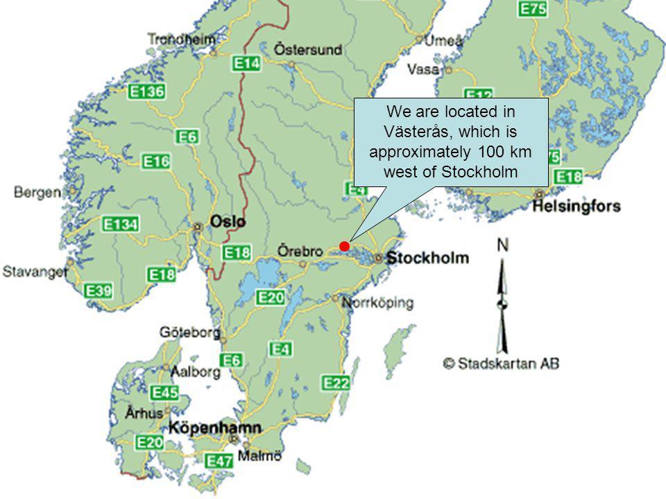 In Västerås, the Johannisberg airfield is located at the west edge of the Västerås bay in Lake Mälaren.