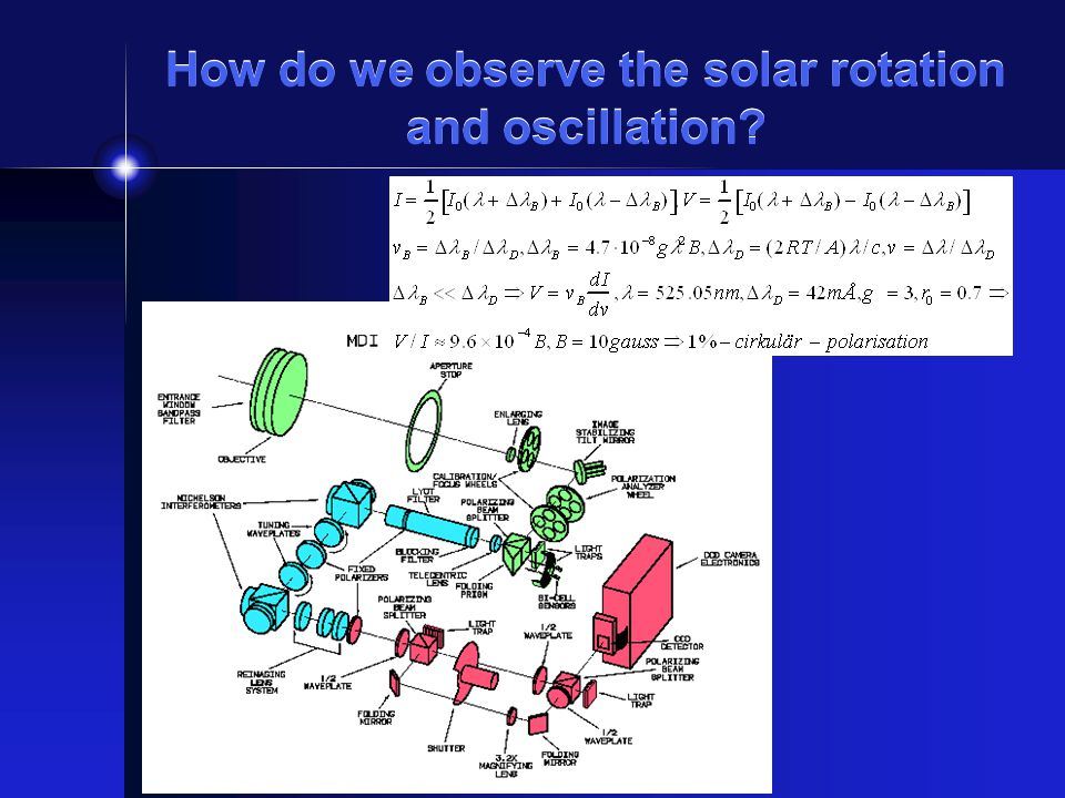 How do we observe the solar rotation and oscillation?