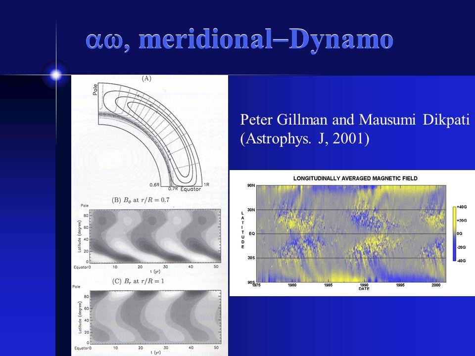 meridional Dynamo Peter Gillman and Mausumi Dikpati (Astrophys. J, 2001)