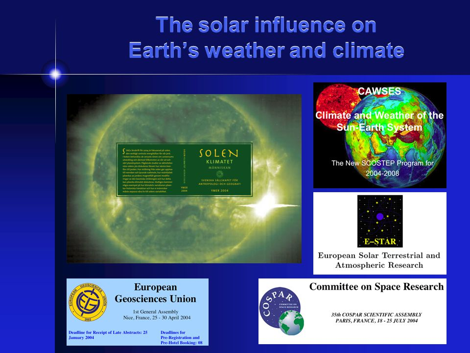 The solar influence on Earths weather and climate