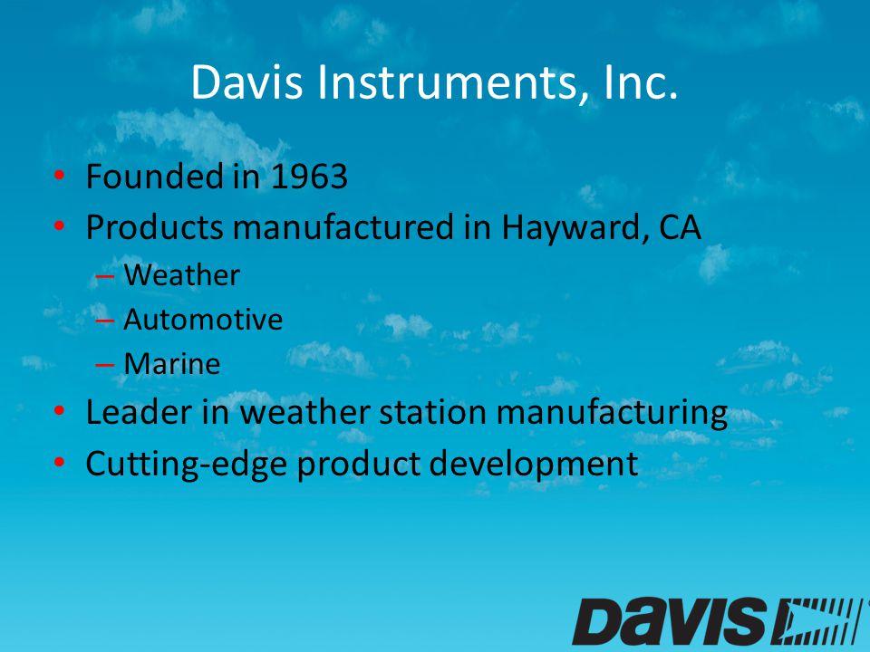 Davis Instruments, Inc.