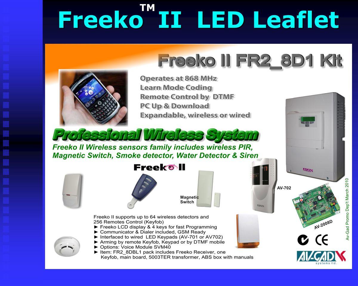 Freeko II LCD Leaflet Freeko II LCD LeafletTM
