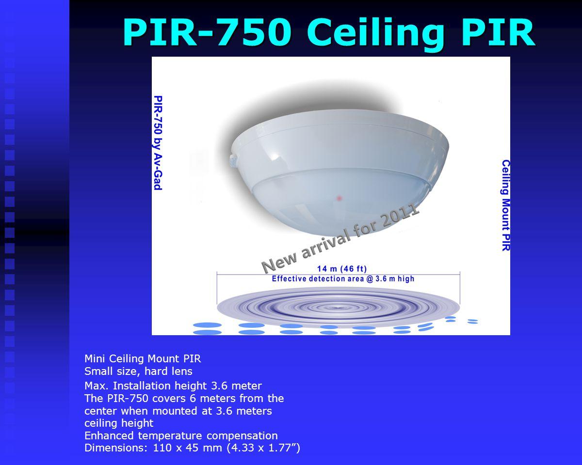 AVQD100 AVQD100 High RF immunity- 25V/M Anti halogen White lens Dimensions: 12 x 5.8 x 3.9 cm Dual technology (Microwave and PIR) detector Compact siz