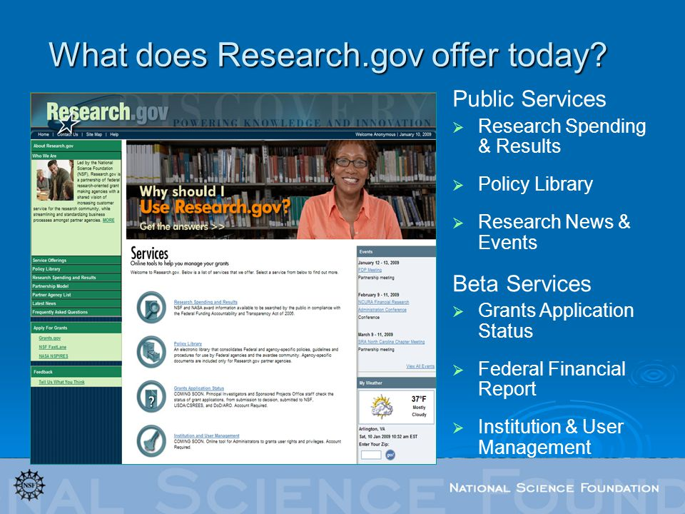 What does Research.gov offer today.