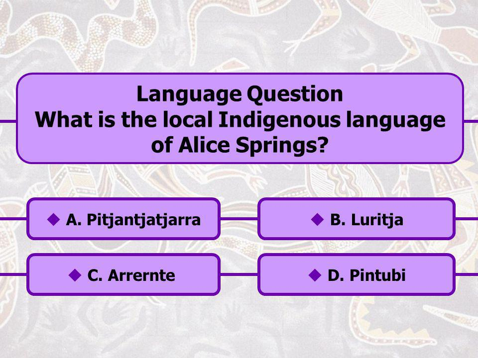 Language Aboriginal Flag Weather Locality Totem Population History Music Health Legal Economic Education Politics Social Click Information to End the