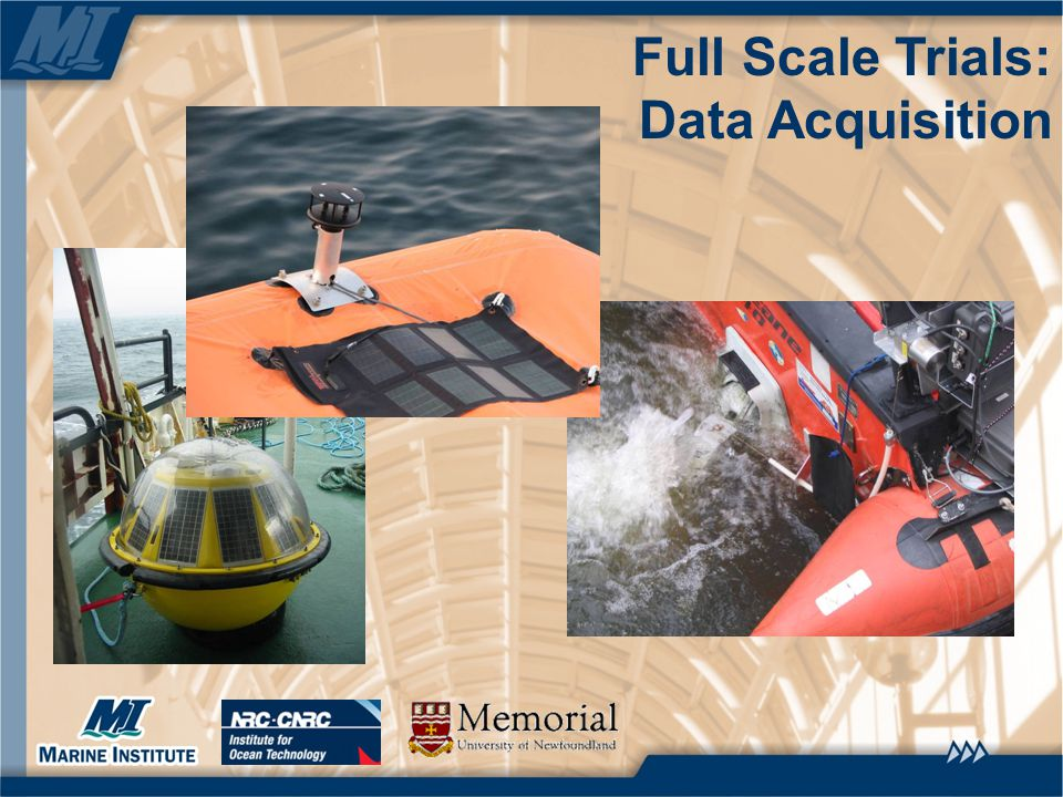 Full Scale Trials: Data Acquisition