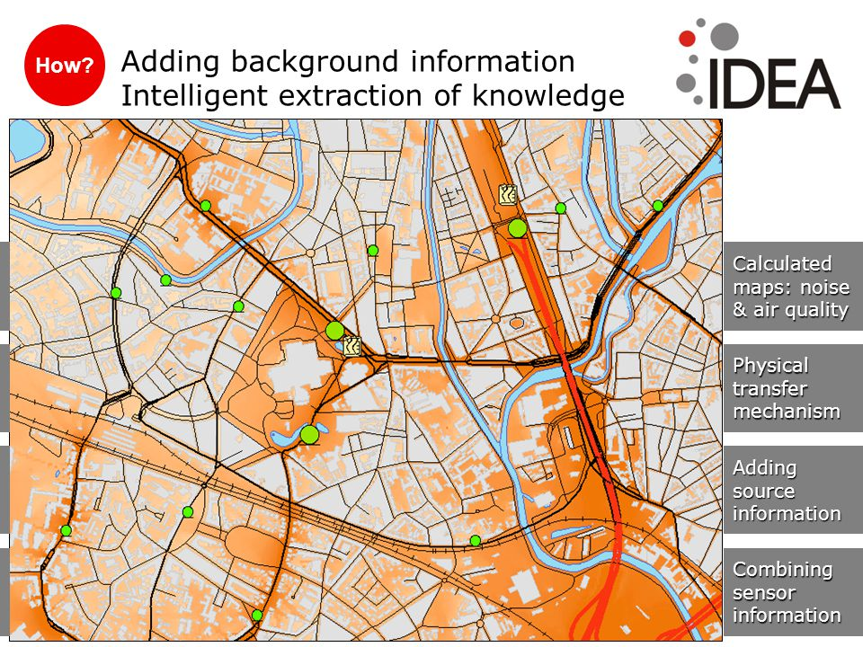 How? Adding background information Intelligent extraction of knowledge Combining sensor information Adding source information Physicaltransfermechanis