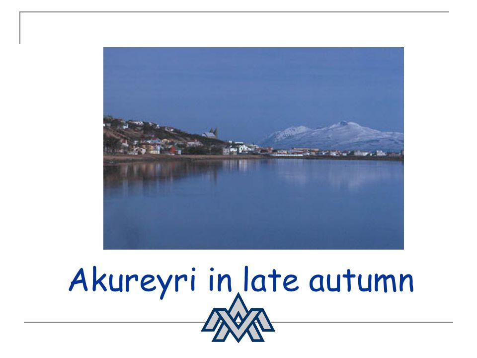 Akureyri in late autumn