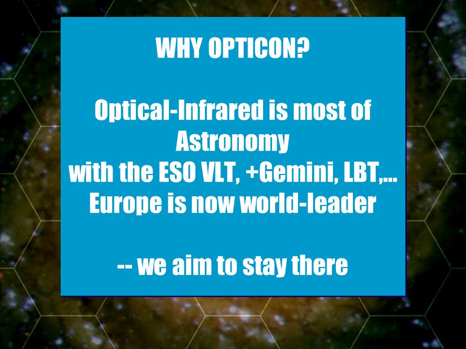 - Slide 2 WHY OPTICON.