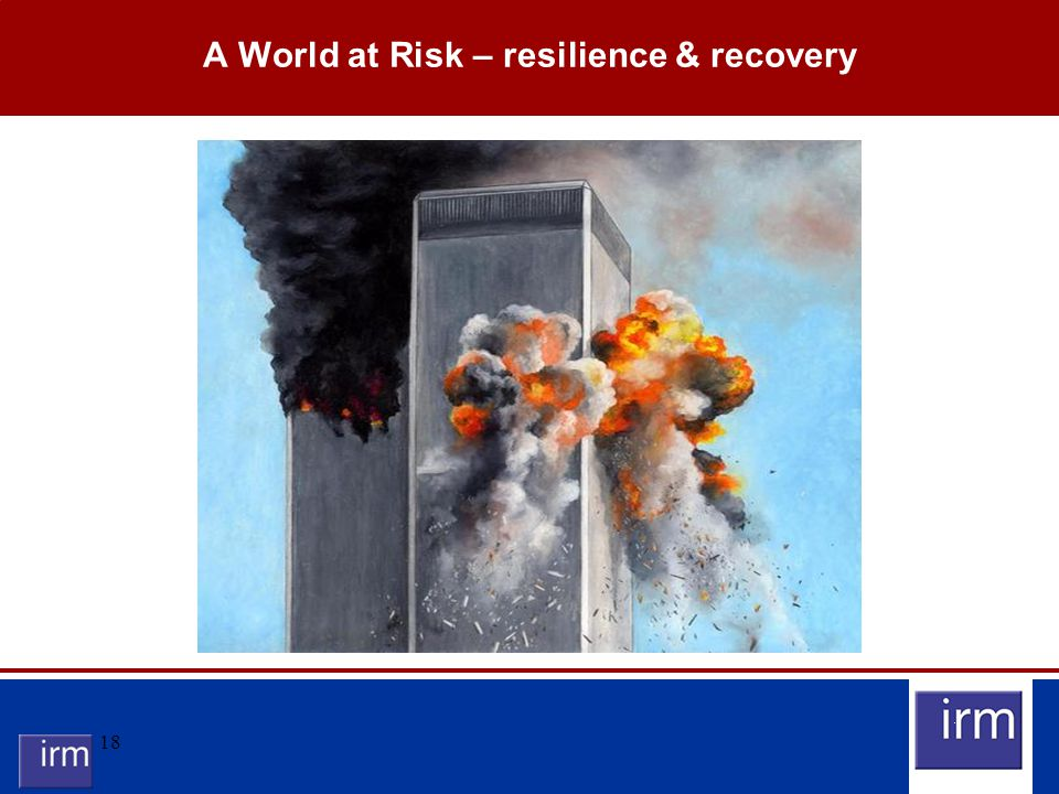 18 A World at Risk – resilience & recovery
