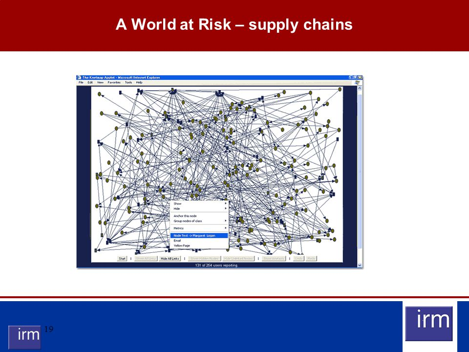 19 A World at Risk – supply chains