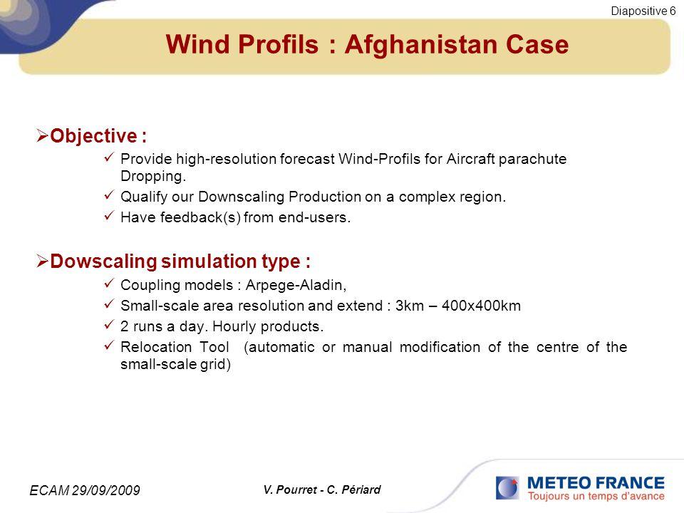 ECAM 29/09/2009 Diapositive 7 V. Pourret - C. Périard Wind Profils : Afghanistan Case