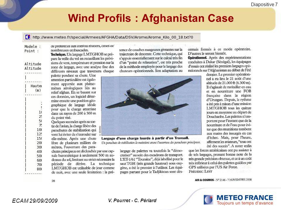 ECAM 29/09/2009 Diapositive 8 V. Pourret - C. Périard Computing time : Arome and Meso-Nh