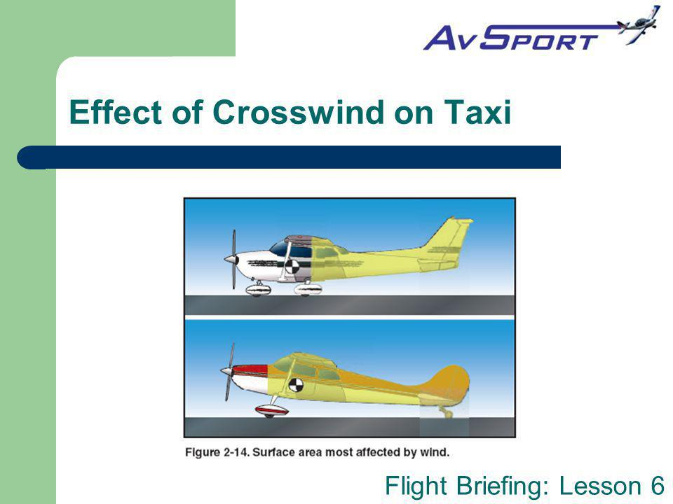 Flight Briefing: Lesson 6 Effect of Crosswind on Taxi