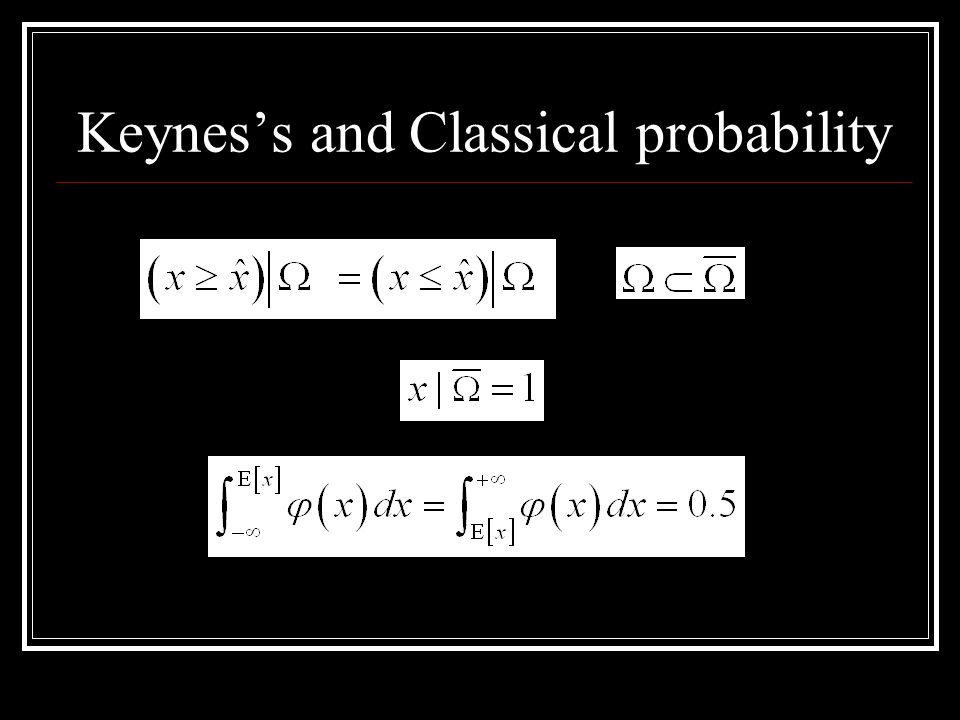 Keyness and Classical probability