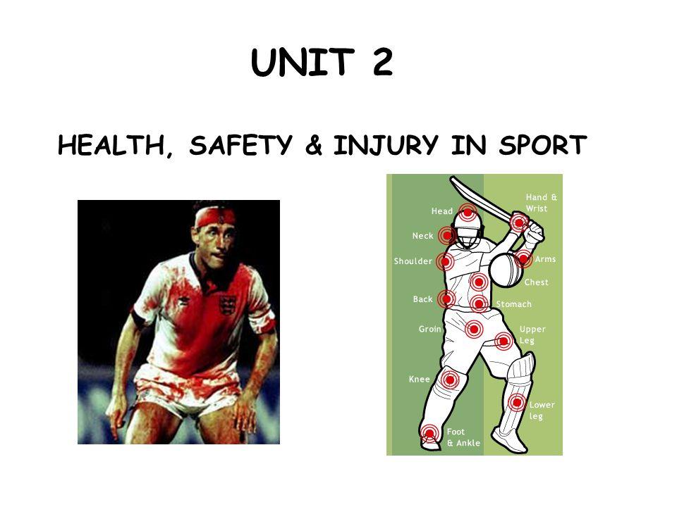 UNIT 2 HEALTH, SAFETY & INJURY IN SPORT