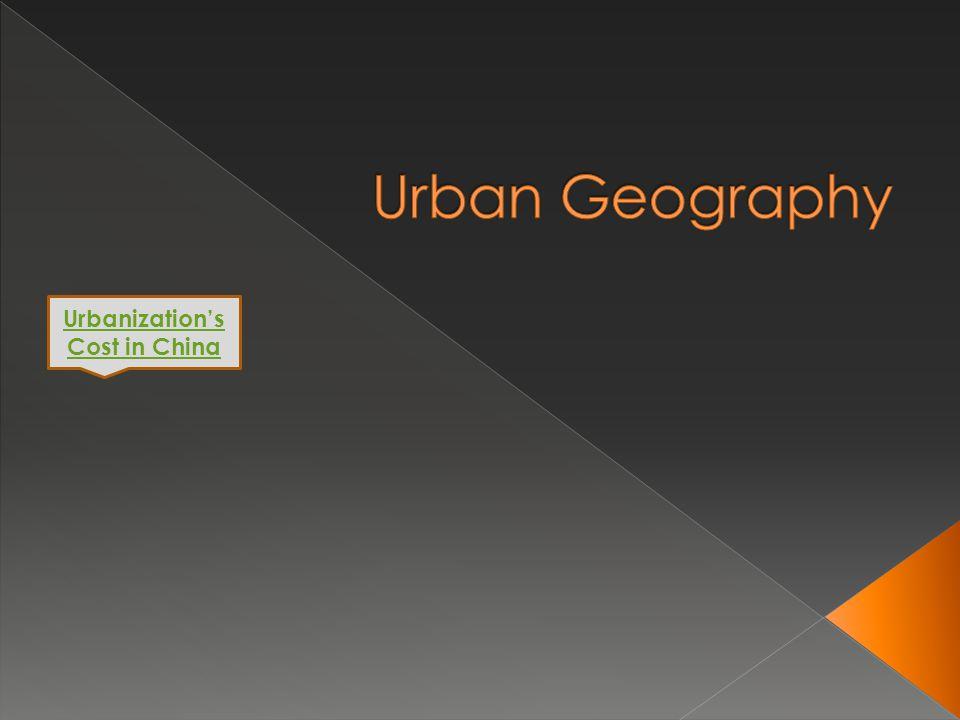 Urbanizations Cost in China
