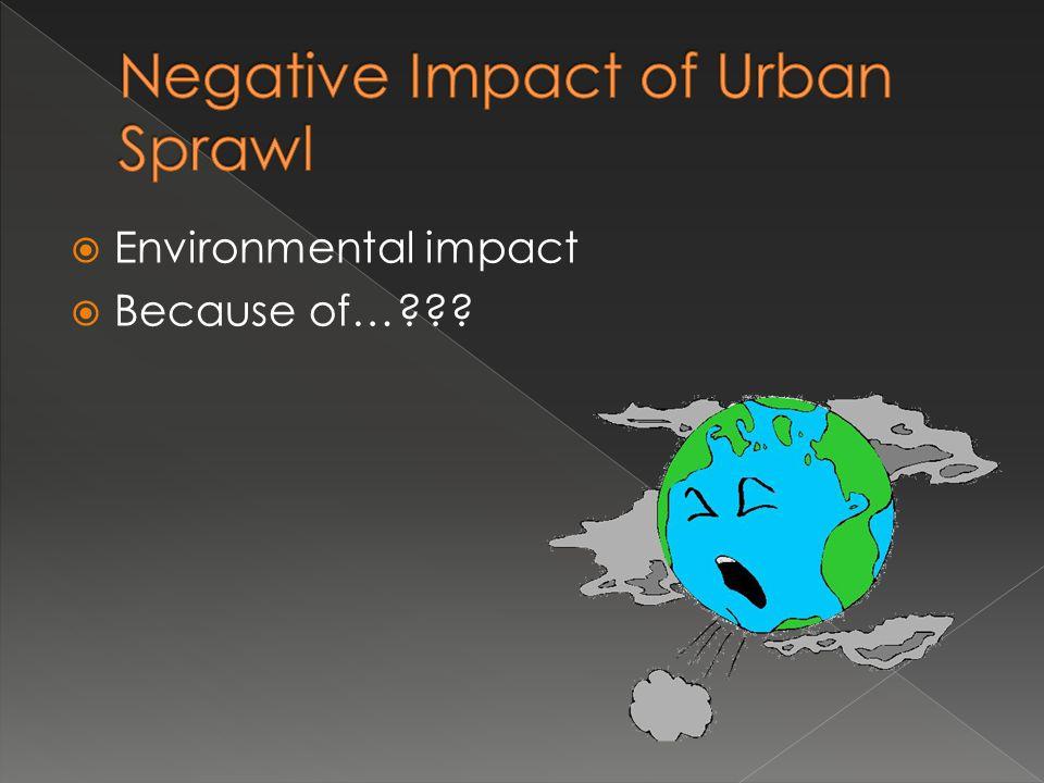 Environmental impact Because of…???