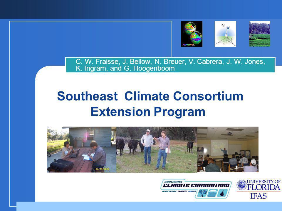 Southeast Climate Consortium Extension Program C. W.