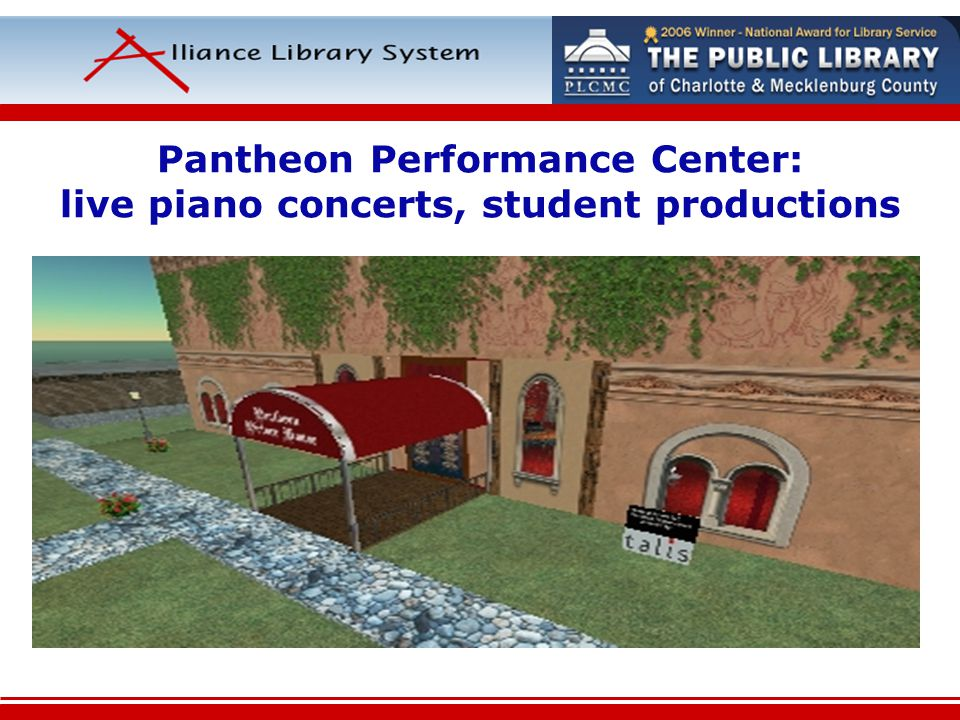Pantheon Performance Center: live piano concerts, student productions