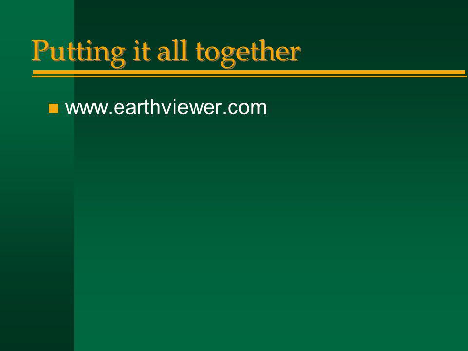 Putting it all together n www.earthviewer.com