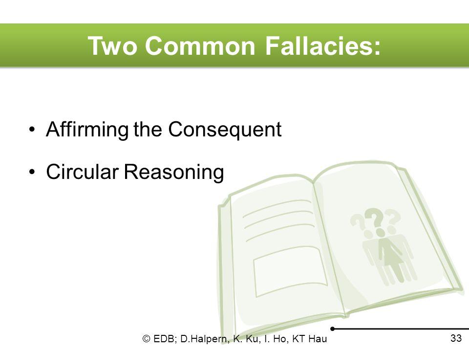 © EDB; D.Halpern, K. Ku, I. Ho, KT Hau 32 Fallacies