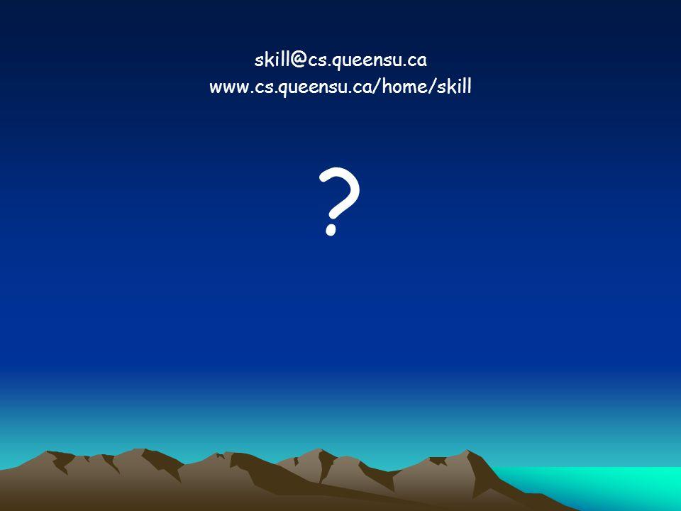 skill@cs.queensu.ca www.cs.queensu.ca/home/skill