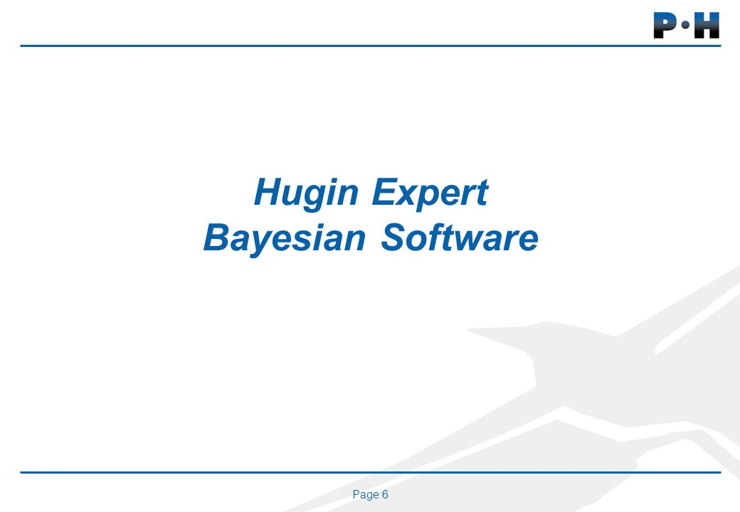 Page 6 Hugin Expert Bayesian Software