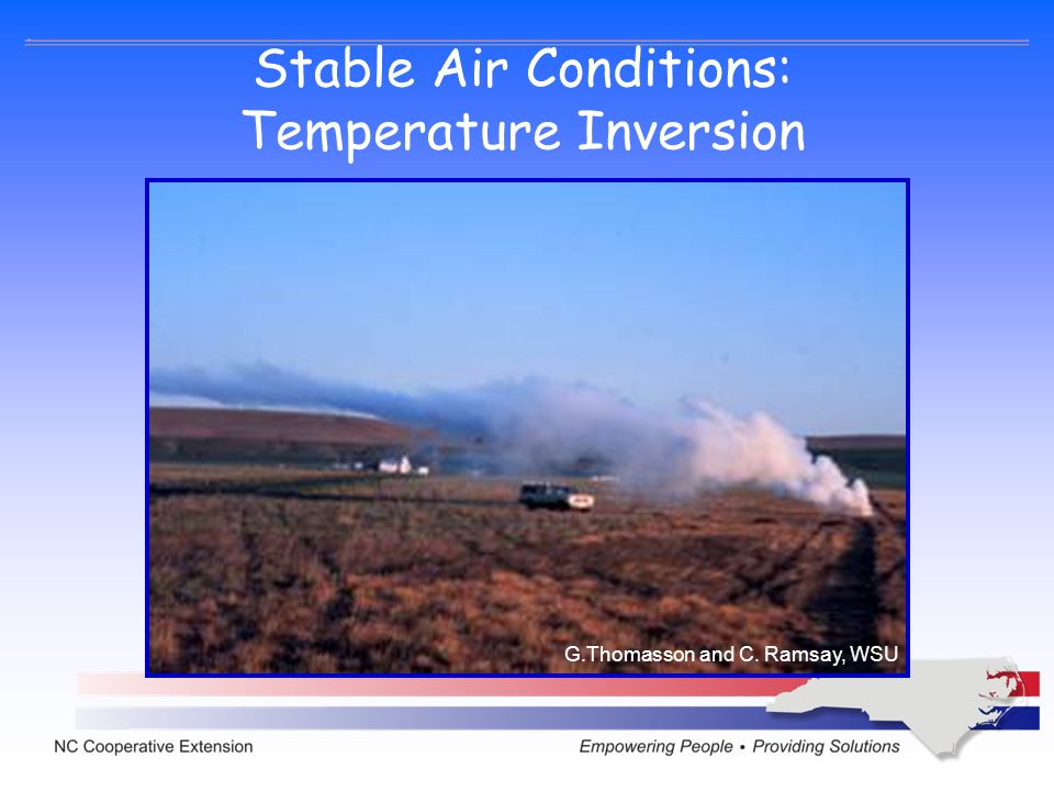 Stable Air Conditions: Temperature Inversion G.Thomasson and C. Ramsay, WSU