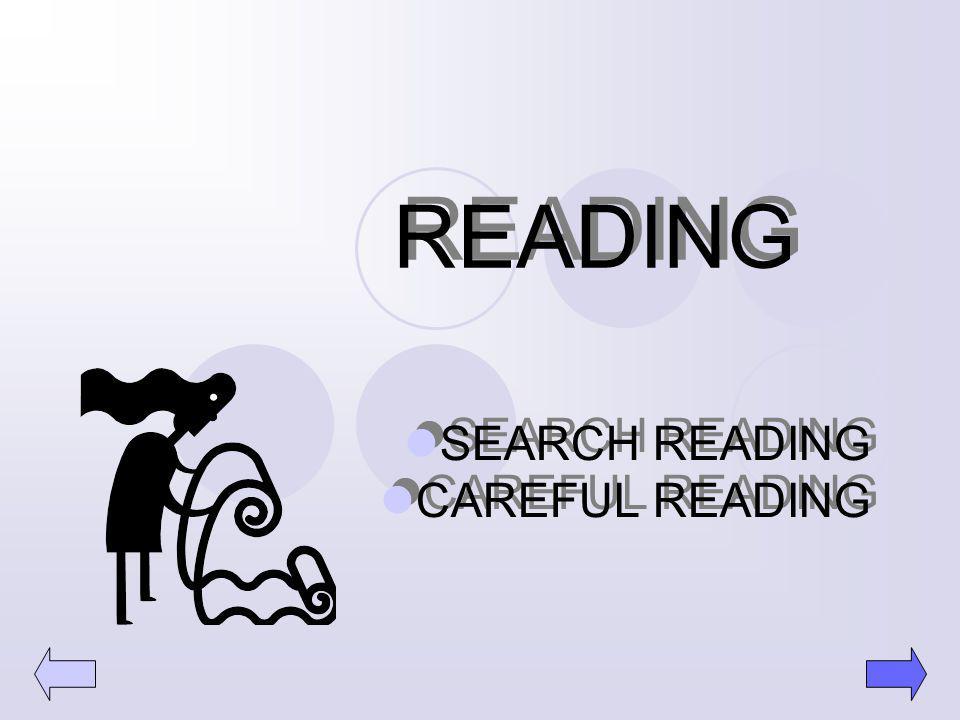 READING SEARCH READING CAREFUL READING SEARCH READING CAREFUL READING 7