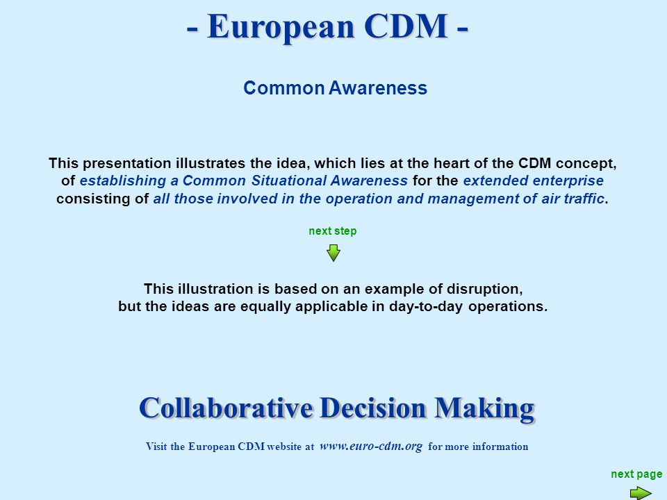 - European CDM - To benefit from the animation settings contained within this presentation we suggest you view using the slide show option.