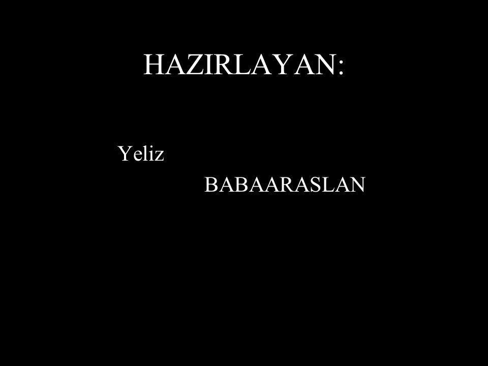 HAZIRLAYAN: Yeliz BABAARASLAN