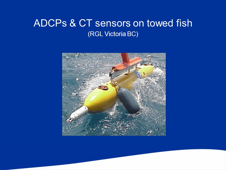 ADCPs & CT sensors on towed fish (RGL Victoria BC)