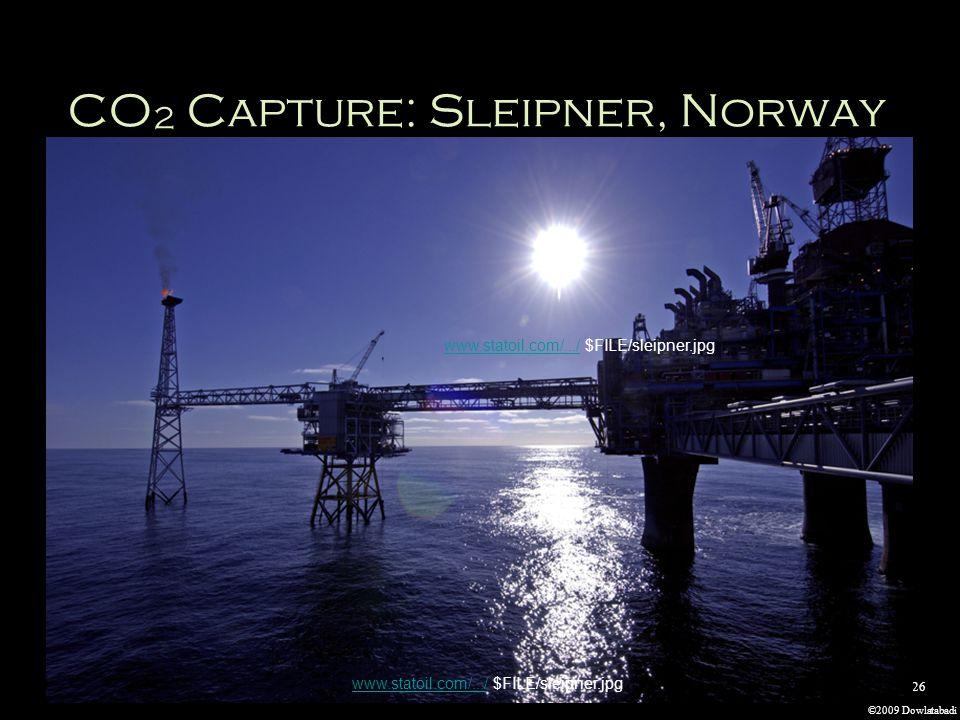 ©2009 Dowlatabadi 26 CO 2 Capture: Sleipner, Norway www.statoil.com/.../www.statoil.com/.../ $FILE/sleipner.jpg www.statoil.com/.../www.statoil.com/.../ $FILE/sleipner.jpg