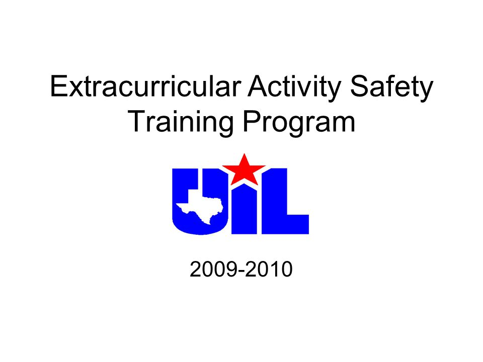 Extracurricular Activity Safety Training Program 2009-2010